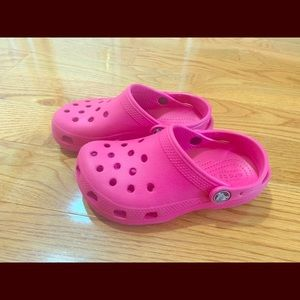 Girls pink crocs. Size 12